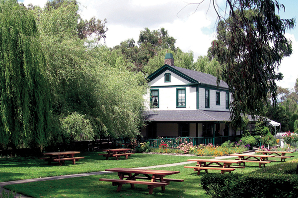 Cline Cellars' tasting room and picnic tables