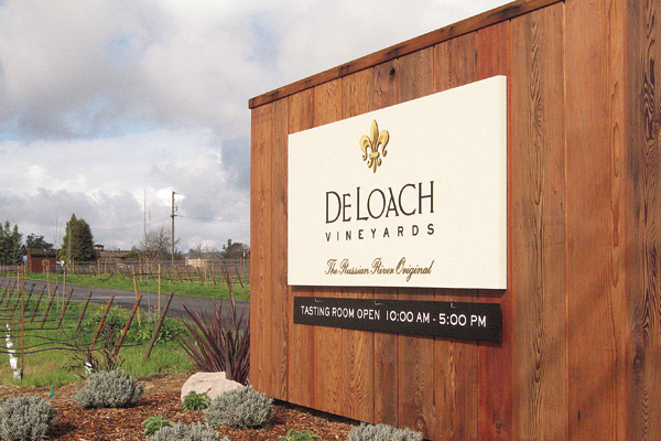 DeLoach's welcome sign