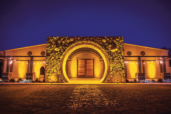 Sextant's beautiful winery lights up the night