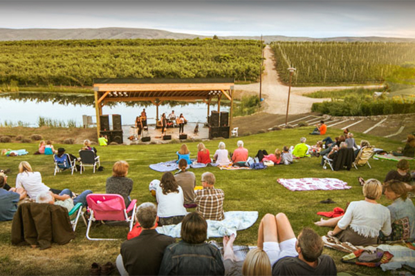 Outdoor concert in Yakima Valley wine country